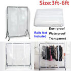Garment Rail Cover Floor-standing Drying Rack Covers Suit Coat Protector