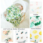 120 120cm Baby Blanket Muslin Wrap Cotton Bamboo Fiber Baby Swaddle Breathabl