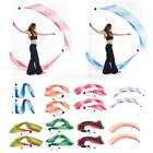 2x Smooth Imitated Silk Veil Poi Thrown Ball Belly Dance Performance Costume