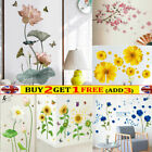 Flowers Wall Sticker Living Room Wallpaper Self-adhesive Home Decoration Decal