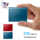 2TB External USB 3.0 Type C Portable Solid State Drive High Speed For Mobile PC