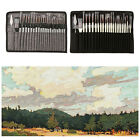 24PACK Paint Brush Set for Artist Acrylic Oil Watercolor Canvas Gouache Painting
