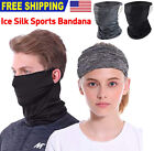 Ice Silk Neck Gaiter Bandana Half Face Mask Headband Face Cover Balaclava Scarf