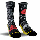 Merge4 Men's Devo Obsesso Socks Black Footwear Active Skateboarding Skate