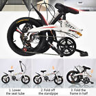 20in 7 Speed ​​City Folding Compact Suspension Bike Bicycle Urban Commuters AA