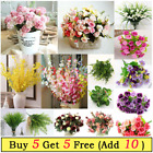 Artificial Silk Flowers Bunch For Wedding Home Grave Outdoor Bouquet Party Decor