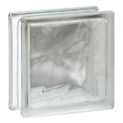 Clearly Secure Nubio Wave Pattern Glass Block - 10 Pack