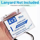 2-50 Pack 4x3 Holder Clear Sleeve Zip CDC Waterproof Vaccination Card Protector