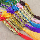 1x Chinese Knot Feng Shui Wealth Success Copper Coins Lucky Charm Home Car De G-