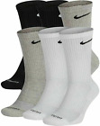 Nike Men's Everyday Plus Cushioned Crew Socks 3 OR 6 Pack Multcolor SX6897-922