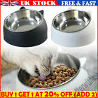 Pet Cat Kitten Feed Bowl Raised Food Stand Tilted Elevated Stainless Steel