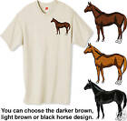 Embroidered QUARTER HORSE Tee Shirt  Pick From 12 Color
