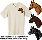 Embroidered QUARTER HORSE HEAD - 12 colorsTee Shirt