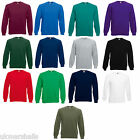 FRUIT OF THE LOOM SWEATSHIRT JUMPER 11 COLS ALL SIZES