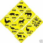 """""""(Farm Animal) Xing"""" Signs Funny Novelty Crossing New"""
