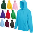 FRUIT OF THE LOOM HOODED TOP HOODIE 20 COLOURS S - XXL