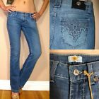 $152 Antik Denim Eva Bootcut Low Rise Embroidered Pocket Boot Medium Jeans 24 25