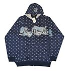 LA Los Angeles Blue Hoody Hooded Top
