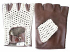 CYCLING GLOVES LEATHER COTTON FINGERLESS SIZE.SMLXL NEW