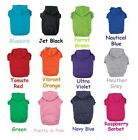Dog Hoodie - 12 Bright Colors in 6 Sizes Soft Cotton Hooded Sweatshirt For Dogs