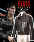 Elvis Men's Black Classic Real Soft Lambskin Leather Fashion Jacket