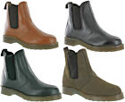 Grafters Chelsea Gusset Dealer Pull On Leather Casual Mens Boots Size 7-12
