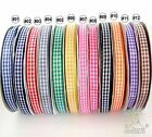 5 metres gingham ribbon hairbow (9mm) U pick 12 colors