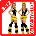 New Sexy Bumble Bee Queen Dress Up Leg Wamers Costume