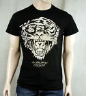 ED Hardy Men's Platinum New Tiger T-shirt Stones Black