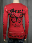 SMET Audigier Womens Red Butterfly Thermal SHIRT NWT