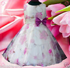 Purple Wedding Party Ceremony Flower Girls Tulle Dresses SIZE 3 4 5 6 7 8 10Y