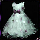 Purple Celebration Wedding Party Flower Girls Dress 3-8