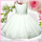 Off White Christening Christmas Wedding Party Flower Girls Dresses SIZE 2 to 12Y