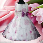 Kids Purples Wedding Party Bridesmaid Flower Girls Dresses SIZE 3-4-5-6-7-8-10Y