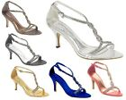 Womens Evening,Proms, Bridesmaids Sandals in Size 3-8