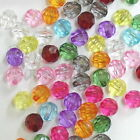 50-150 pcs 10mm Acrylic Faceted Round beads C584 U Pick