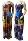 Strappy Summer Maxi Dress UK Size 10 - 26 in Various Length Option (CRC - BFLY)