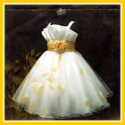 Golds Christmas Party Girls Dresses 2-3-4-5-6-7-8-9-10Y