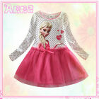 Pinks Frozen Elsa Anna Princess Birthday Party Girls Dresses SIZE 1-2-3-4-5-6-8T