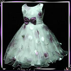 PU3211 Purples Christmas Wedding Party Flower Girls Pageant Dresses 3-4-5-6-7-8Y