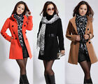 NEW Womens Wool Double-breasted Trench Coat / Jacket