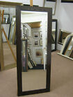 """NEW LONG 3"""" MODERN FLAT MAHOGANY STAINED SOLID OAK FULL LENGTH DRESSING MIRRORS"""
