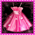 HP5299 Baby Hot Pinks Christmas Flowers Girls Pageant Dress SZ 2-3-4-5-6-7-8-10Y