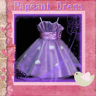 PU5299 NWT Purple Christmas Boxing Day Girls Pageant Dresses SZ 2-3-4-5-6-7-8-9T
