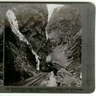 ROYAL GORGE W/ RAILROAD OVER RIVER STEREOVIEW
