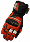 RED MOTORBIKE MOTORCYCLE KEVLAR LEATHER GLOVE
