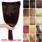 "16"" 20"" 24"" 28"" 85g One Piece 5 Clips Clip in on Human Hair Extension hairpiece"