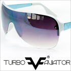 Turbo Aviator One Piece Lens Mens Sunglasses Womens Shield Sunnies FF7828 multi