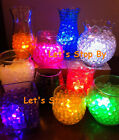 1 LED Submersible Light + 25g Water Pearl Bead Wedding Decoration Eiffel Vase