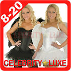New Angel Bridal Burlesque Lingerie Set Corset Costume Petticoat Tutu Mini Skirt